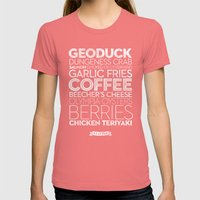 Seattle — Delicious City Prints Womens Fitted Tee Pomegranate SMALL