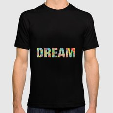 DREAM Mens Fitted Tee SMALL Black