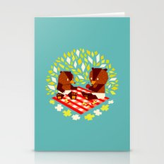 picknick bears Stationery Cards