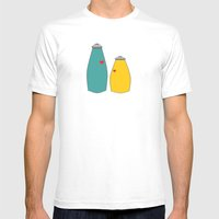 Salt And Pepper Mens Fitted Tee White SMALL