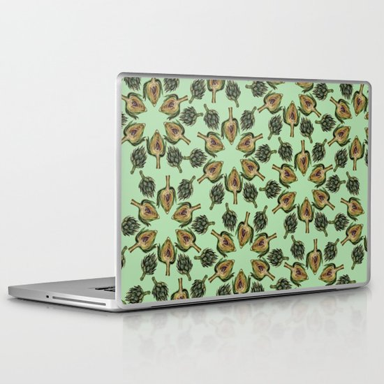 Swirling Artichokes Laptop & iPad Skin