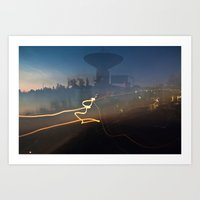 Antenna Flowing Art Print