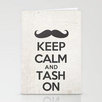 Keep Calm And Tash On Stationery Cards