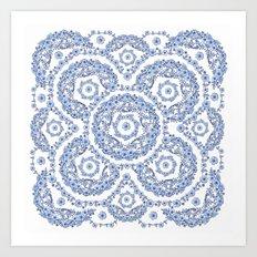 Blue Rhapsody II Art Print