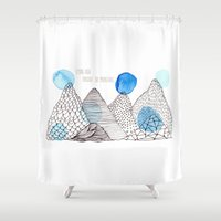 Flying high through the mountains Shower Curtain