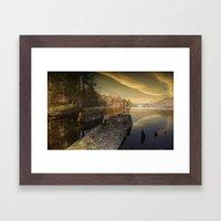 Towards Howden Dam Framed Art Print