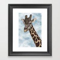 Giraffe Fun Framed Art Print