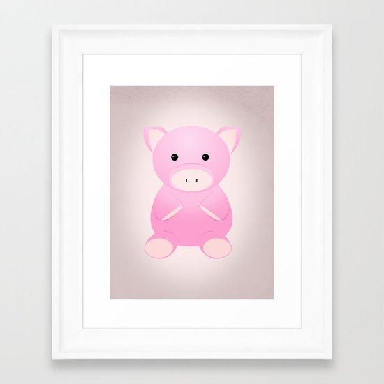 THINK PIG Framed Art Print