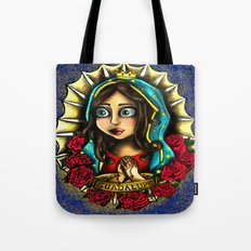 Lady Of Guadalupe (Virgen de Guadalupe) BLUE VERSION Tote Bag