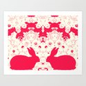 Red Rabbit Collaboration Art Print