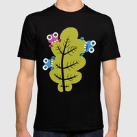 Bugs Eat Green Leaf Mens Fitted Tee Black SMALL
