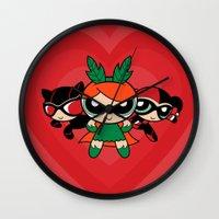 Supervillain Girls Wall Clock