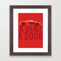 A Vent, A Door Framed Art Print