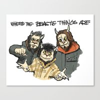 Where The Beastie Things Are Canvas Print
