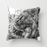 Sculpting A Galaxy Throw Pillow