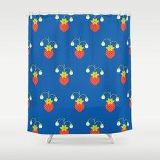 Fruit: Strawberry Shower Curtain