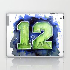 12th Man Seahawks Seattle Go Hawks Art Laptop & iPad Skin