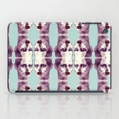 Scary Dirty Face with Red Lips iPad Case