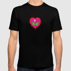 lovebomb-iiis - élan vital ephemeral - in_destruction creation! (blood splatter v) SMALL Black Mens Fitted Tee
