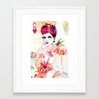 La Queen De Dimanche / T… Framed Art Print