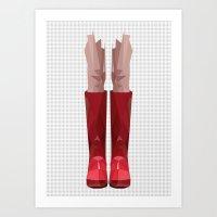 My Lovely Rain Booths Art Print