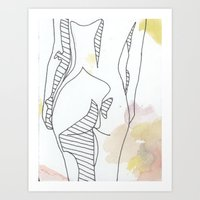 watercolor three Art Print