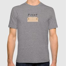 Pivot - Friends Tribute Mens Fitted Tee Tri-Grey SMALL