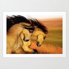 HORSES - The Buckskins Art Print
