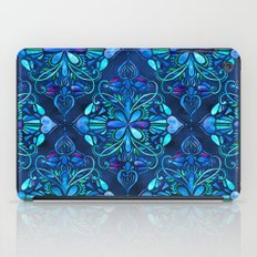 Deep Ocean Art Nouveau Watercolor Doodle iPad Case