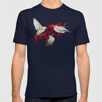 Feeding Time Mens Fitted Tee Navy SMALL