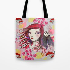 Red Owl Gal Tote Bag