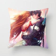 Kirito and Asuna Throw Pillow