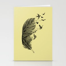 Feather Birds BW Stationery Cards