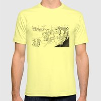My own Wonderland... Mens Fitted Tee Lemon SMALL