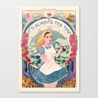 Alice Nouveau Canvas Print