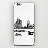 London Black And White iPhone & iPod Skin