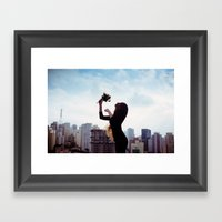 Lioness Framed Art Print