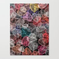 Canvas Print featuring Leaf Mosaic(25). by Mary Berg