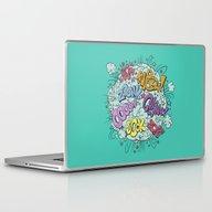 Laptop & iPad Skin featuring Comic Brawl by Peter Kramar