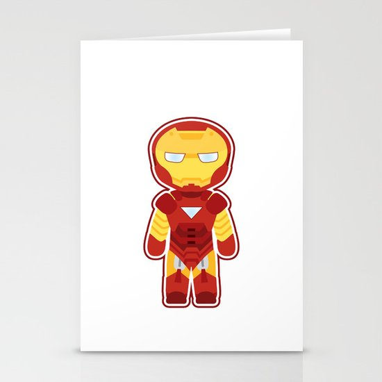 Chibi Iron Man Stationery Card
