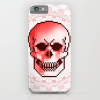 iPhone & iPod Case featuring pixel skull by Kerim Cem Oktay