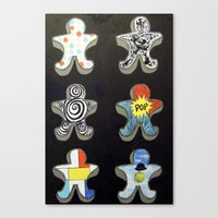 Cookie cutters (post modern) Canvas Print