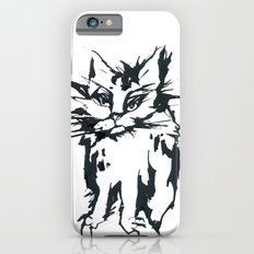 a threatening cat iPhone 6 Slim Case