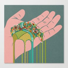 Our world running through the fingers Canvas Print