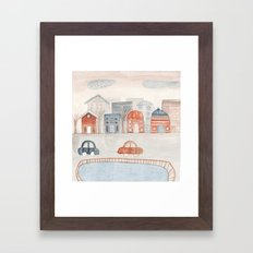 one city Framed Art Print