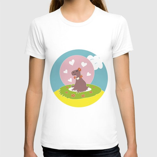 Capybara in Love T-shirt
