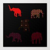 Five Elephants version1 Canvas Print