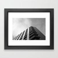 angular fade Framed Art Print