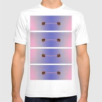 Palm Trees Mens Fitted Tee White SMALL
