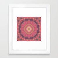 Magenta Sunset Framed Art Print